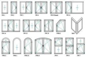 Схема пластиковых окон рисунок