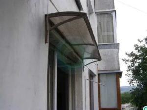Козырек над окном от дождя