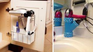 Где хранить фен в маленькой ванной, чтобы это было безопасно