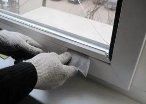 Как снять штапик с алюминиевого окна