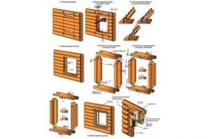 Размер окон в деревянном доме из бруса