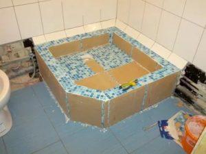 Как изготовить душевой поддон из плитки своими руками, во время строительства или капитального ремонта