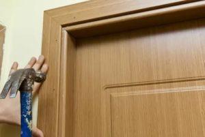 Установка обналички на двери своими руками