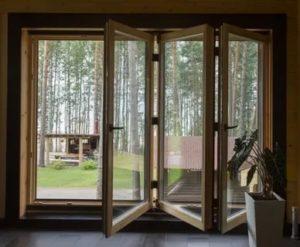 Деревянные окна гармошка