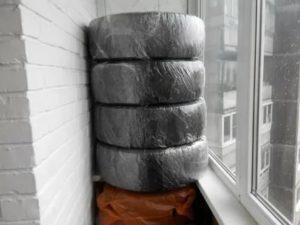 Хранение шин на балконе своими руками