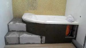 Подиум для ванны – зачем нужен и как сделать