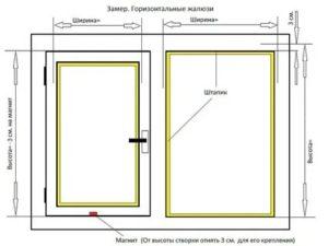 Как замерить размер жалюзи на пластиковые окна