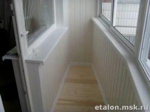 Остекление балкона п44т лодочка