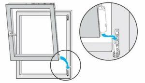 Как снять фрамугу с пластикового окна