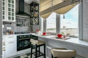Окна на кухне дизайн оформление