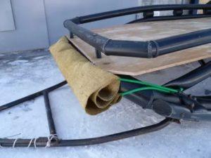 Самодельные сани для снегохода из пластиковых труб: 10 шагов к мечте