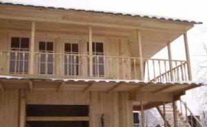 Как построить балкон на даче
