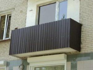 Как обшить балкон металлопрофилем снаружи