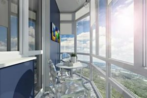 Дизайн балкона с панорамными окнами