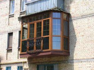 Французское остекление балкона в хрущевке