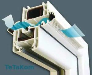 Автоматический приточный клапан на пластиковые окна