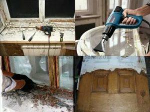 Как снять старую краску с деревянного окна
