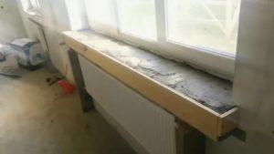 Как отремонтировать подоконник бетонный