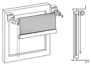 Как установить ролл шторы на пластиковые окна