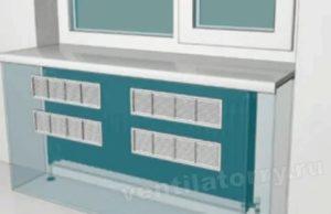 Решетка в подоконник для батарей отопления