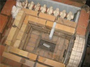 Кирпичная печь с водяным отоплением в доме