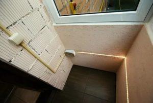 Как провести свет на балкон