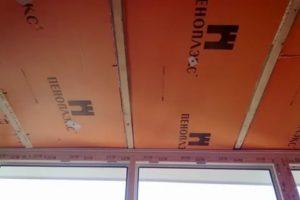 Как закрепить пеноплекс на потолке?
