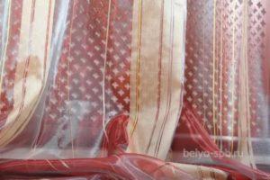 Как удлинить шторы из органзы?