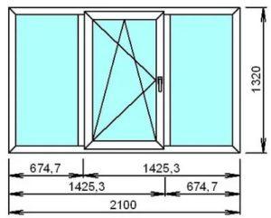 Размер окон в хрущевке панельной