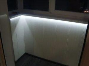 Освещение балкона светодиодной лентой
