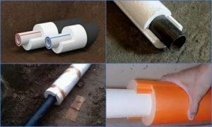 Как утеплить водопроводную трубу в земле и в стенах