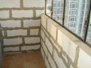 Балкон из пеноблоков своими руками