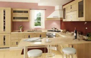 Планировка кухни с окном посередине