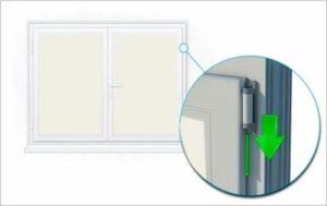 Как снять форточку с пластикового окна