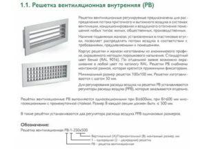Виды вентиляционных решеток: краткие описания