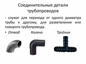 Соединительные детали трубопроводов – виды и их особенности
