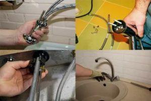 Как установить смеситель на кухне своими силами и произвести его ремонт