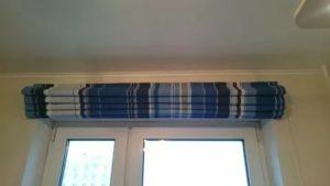 Как крепятся римские шторы к стене?