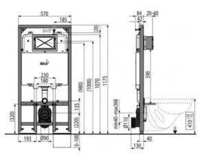 Размеры инсталляции унитаза: особенности монтажа